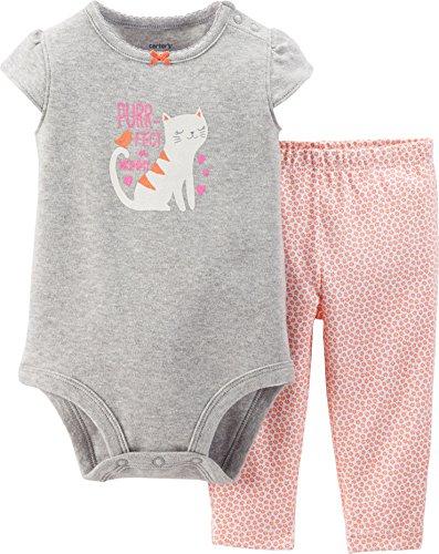 Baby Girls' 2 Piece Bodysuit Set (Baby) - Orange - 3 Months