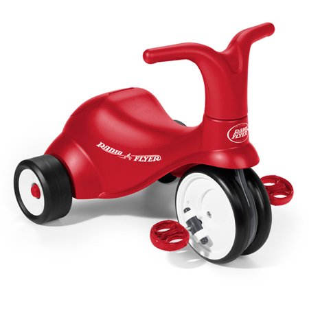 Red Scoot (Radio Flyer, Scoot 2 Pedal, 2-in-1 Ride-on and Trike,)