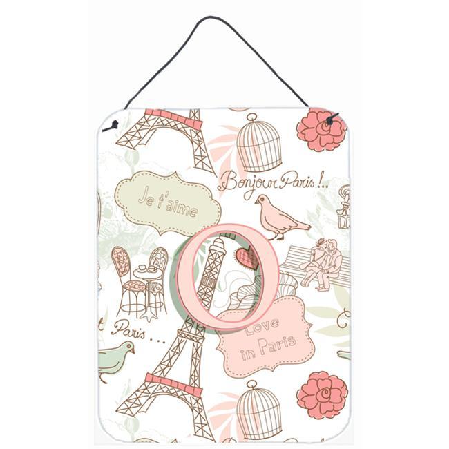 Carolines Treasures CJ2002-ODS1216 Letter O Love In Paris Pink Wall and Door Hanging Prints - image 1 of 1