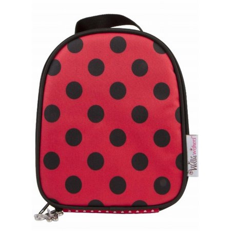 Wellie Wisher Ladybug Lunchbag American Girl Insulated Polka Dot Lunch Box Tote - Bug Boxes