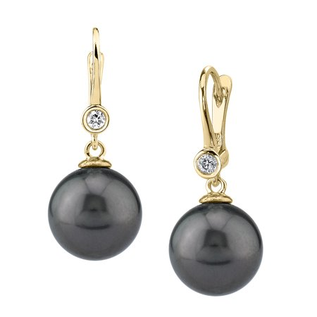 14K Gold Tahitian South Sea Cultured Pearl & Diamond Michelle Earrings ()