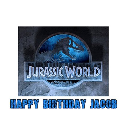 Jurassic World Dinosaur Jurassic Park Edible Image Photo Sugar Frosting Icing Cake Topper Sheet Personalized Custom Customized Birthday Party - 1/4 Sheet - 74181 (Dinosaur Place Coupons)