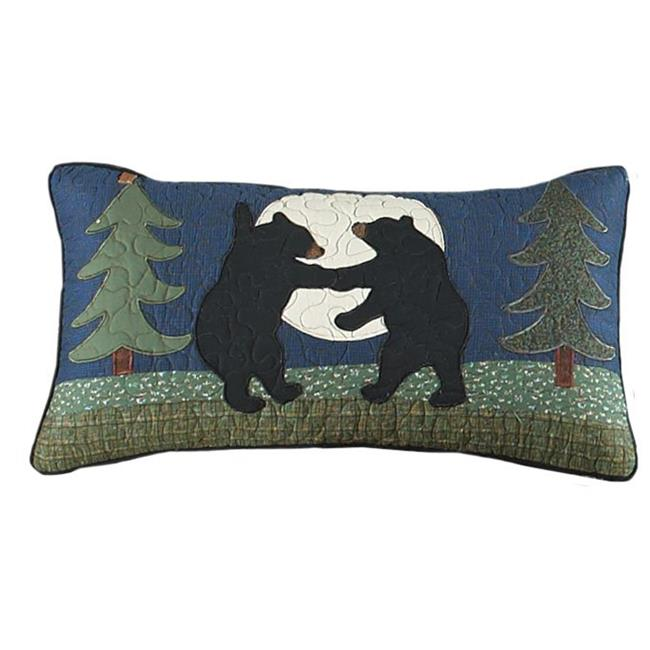 American Heritage Textiles 60367 11 x 22 in. Bear Dance Rectangle Decorative Pillow, Multi Color - image 1 of 1