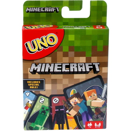 UNO Minecraft Themed Matching Card Game for 2-10 Players Ages 7Y+