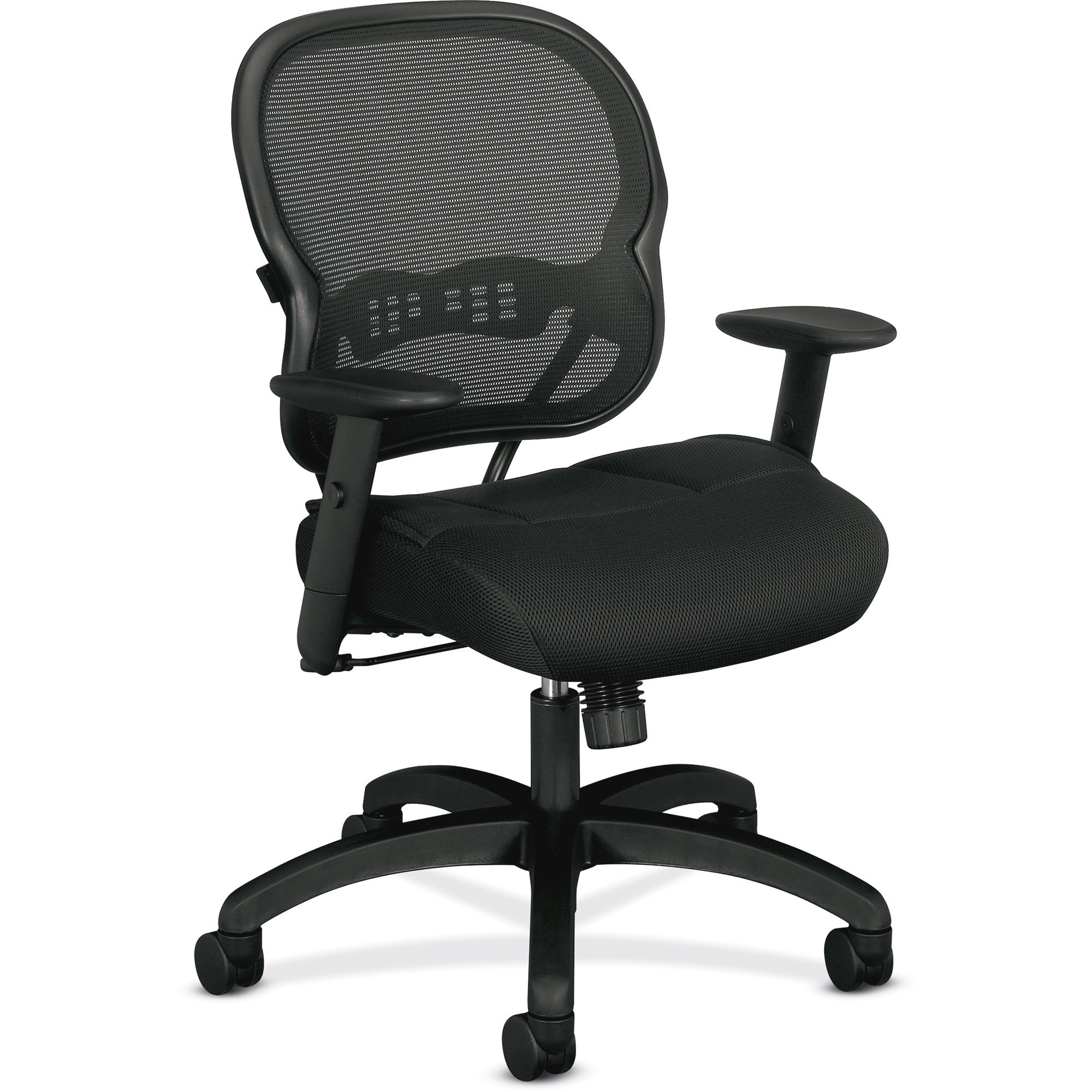 basyx VL712 Series Mid-Back Swivel/Tilt Work Chair, Black Mesh