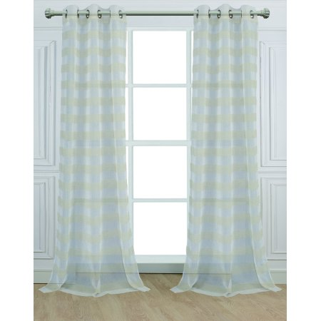 (Dainty Home Cabana Curtain Panel, Set of 2, 84