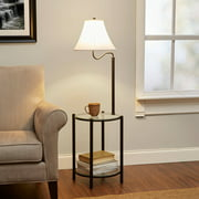 Mainstays Transitional Glass End Table Lamp, Matte Black - Walmart.com
