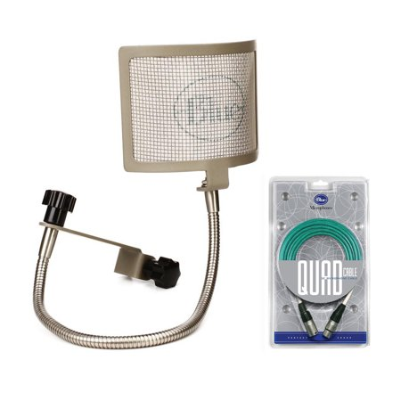 Blue The Pop Universal Pop Filter and Quad 20 Foot Microphone -