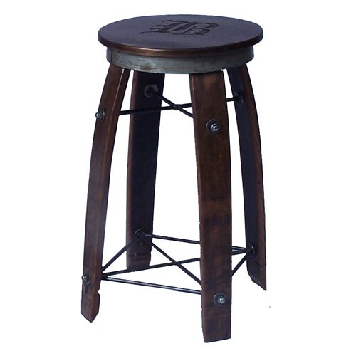 2 Day Designs 24 in. Daisy Stave Counter Stool