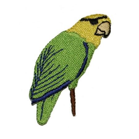 ID 0620 Pirate Parrot Eye Patch Sailor Peg Leg Embroidered Iron On Applique Make Pirate Peg Leg