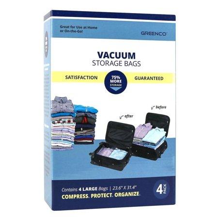 Greenco Vacuum seal, Space Saver Storage Bags - Large- 4 pack