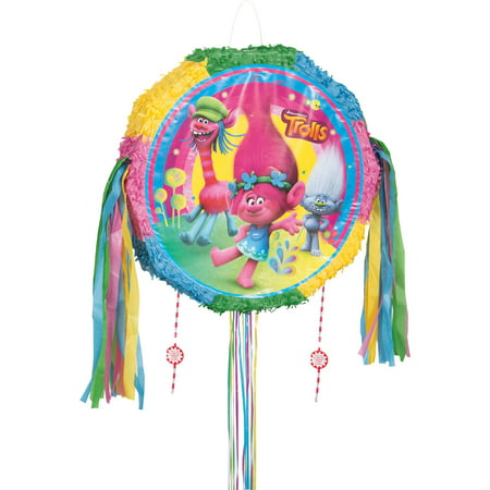 Trolls Pinata, Pull String, 19in - Wonder Woman Pinata