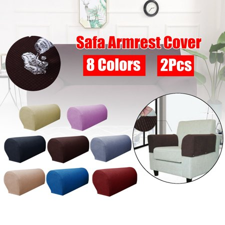 2 Pcs Waterproof Furniture Armrest Covers Slipcovers Sofa Chair Arm Protectors Plaid Slipcovers Sofa Armchair Covers for Couch Chair and Recliner ()
