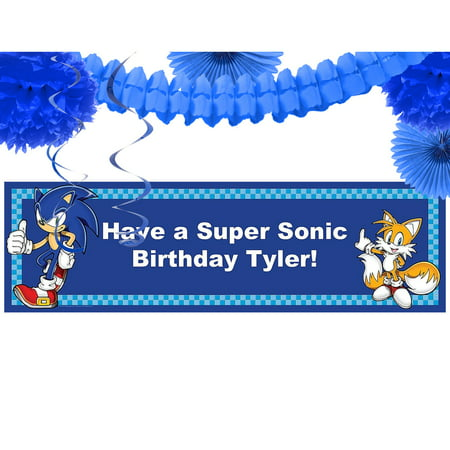 Sonic the Hedgehog Party Banner Decoration Kit](Sonic The Hedgehog Tattoos)