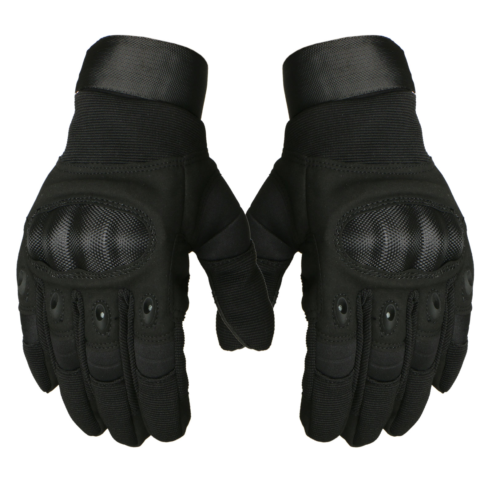 TSV Leather Touchscreen Motorcycle Motorbike Full Finger Riding Gloves for Men Women