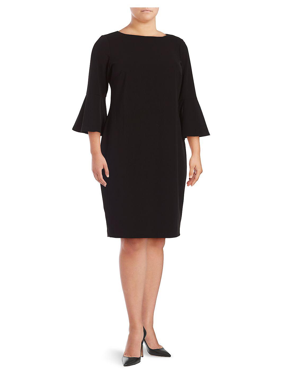 Plus Plus Bell Sleeve Sheath Dress