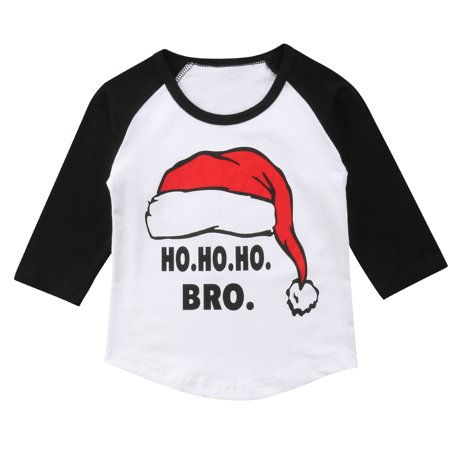 Baby Kid Christmas Outfits Long Sleeve Santa Claus Ho Ho Ho Bro T-shirt Top 4-5 Year](Mother Santa Outfits)