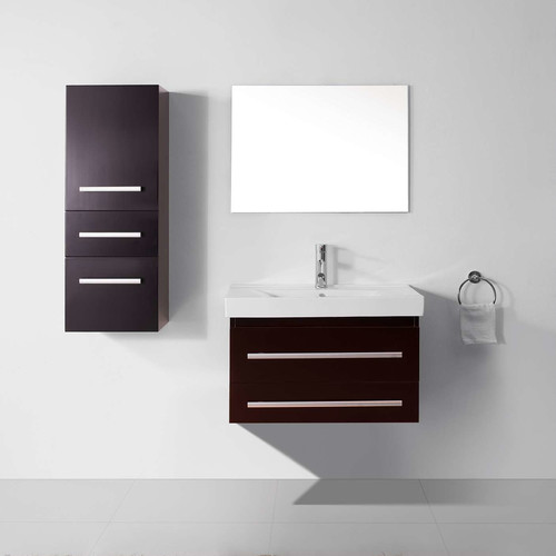 Virtu Ultra Modern Series 29'' Single Bathroom Vanity Set with Mirror