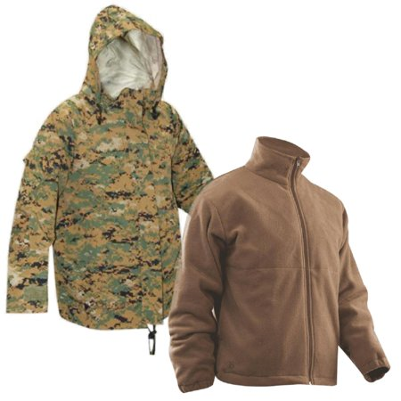 Tru-Spec H2O Proof Gen 2 ECWCS Parka w/Lightweight Polar Fleece Jacket Acu Gore Tex Jacket