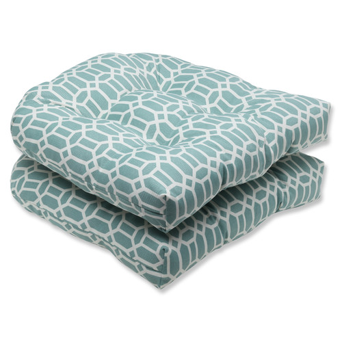 Pillow Perfect Outdoor/ Indoor Rhodes Quartz Wicker Seat Cushion (Set of 2)
