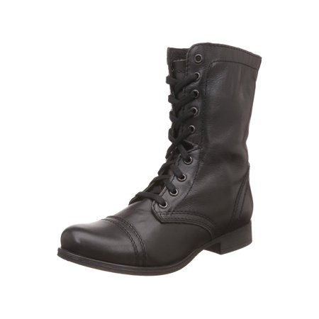 754bd7ebf70 womens steve madden tropa2 combat boots - black