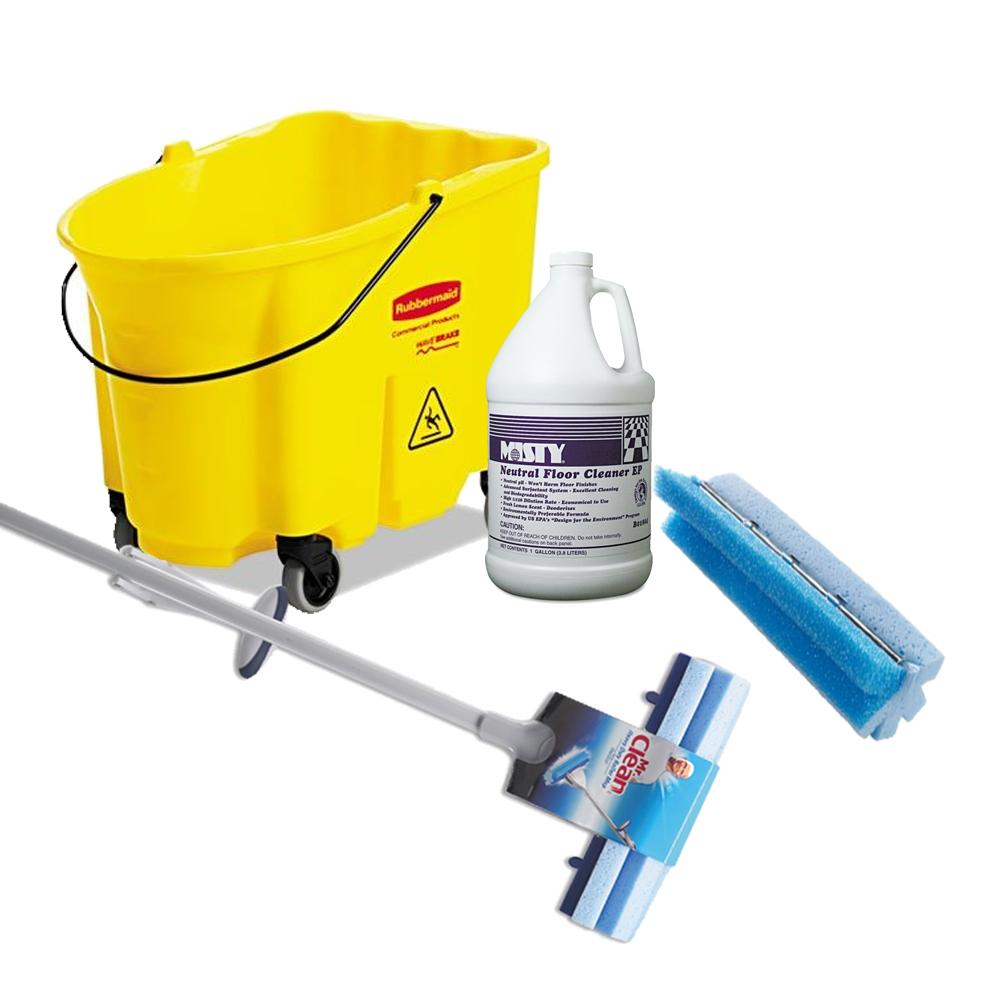 Mr Clean Heavy Duty Roller Mop Refill Foam 12 x 3 3//4 x 2 3//4 Blue 3//Pack