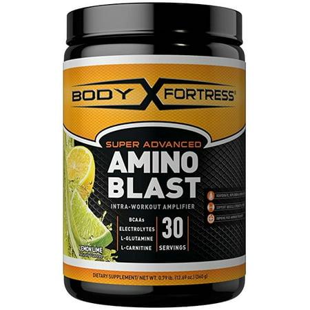 Body Fortress Super Advanced Amino Blast Powder, Lemon Lime, 30