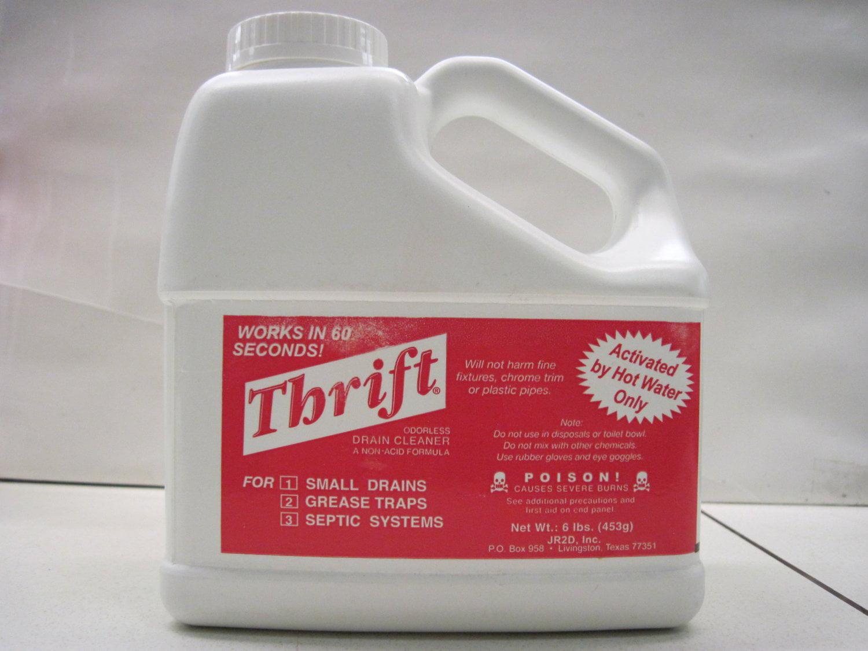 THRIFT T-600 Alkaline Based 6 lb  Granular Drain Cleaner 2 Pack