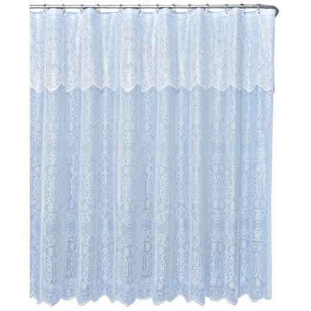 Lace Shower Curtain With Valance Blue Blue Blue Walmartcom