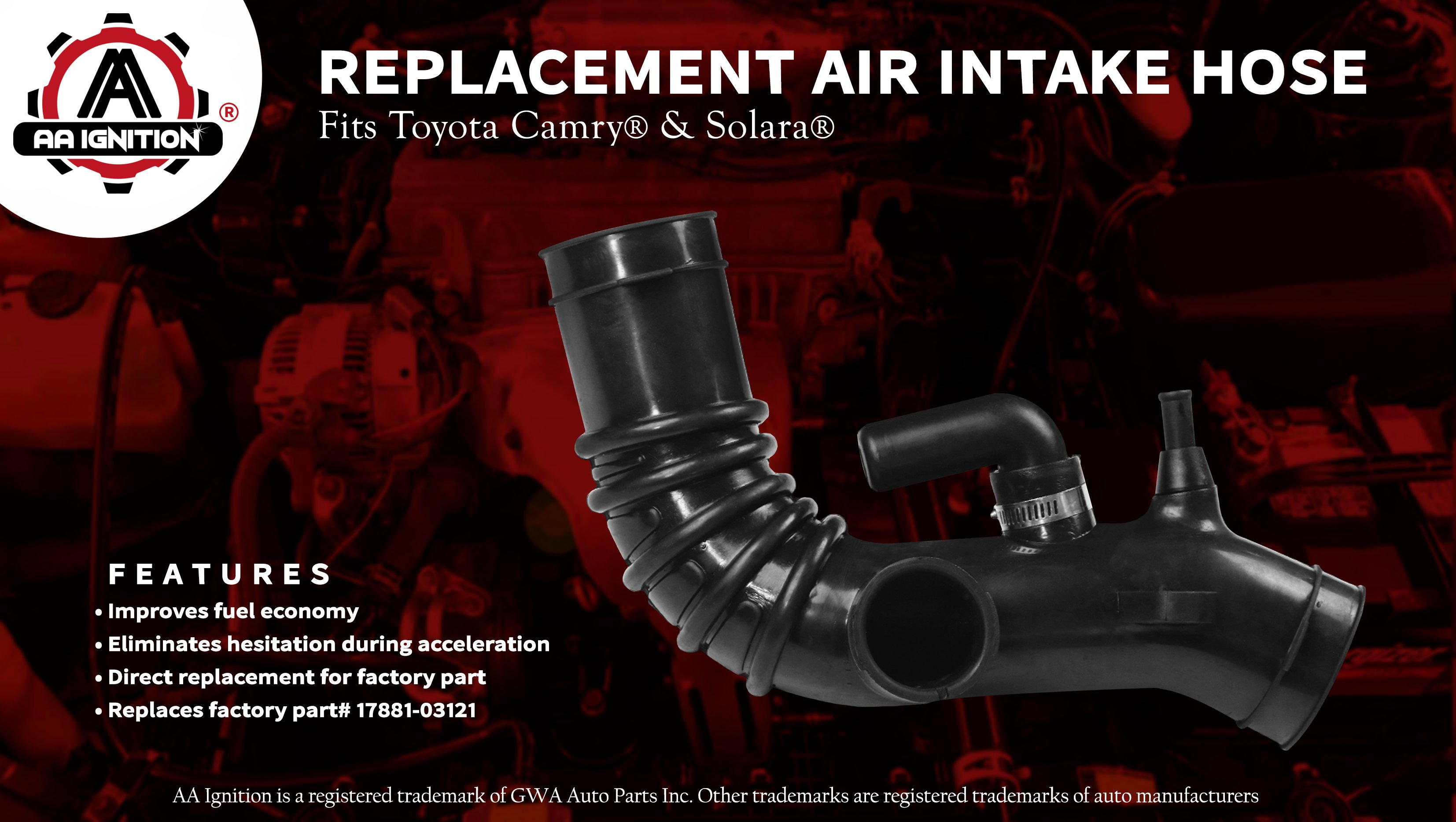 entrepreneur.cd Engine Air Intake Hose 2.2L Fit For Toyota Camry ...