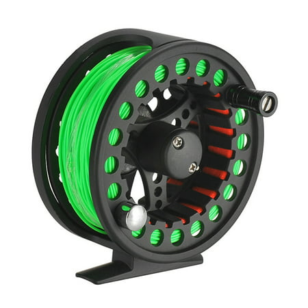 2+1BB Large Arbor Fly Fishing Reel Lightweight CNC Machined Aluminum Alloy Fly Fishing Reel with Line thumbnail