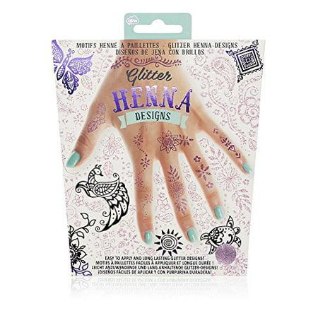 NPW Glitter Henna Pink and Purple Temporary Tattoos Designs - Pink Tattoos