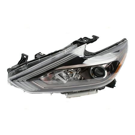 16-18 Nissan Altima Sedan Drivers Headlight Left Halogen Headlamp w/ Black Housing Assembly
