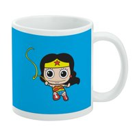 Wonder Woman Cute Chibi Golden Lasso White Mug