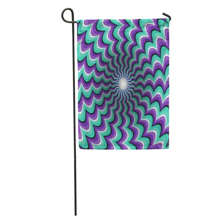 NUDECOR Purple Surrealism Meandering Strips Funnel Rotating Hole Motley Moving Optical Garden Flag Decorative Flag House Banner 12x18 inch - image 1 of 2