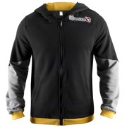 Wingback Classic Fit Zip-Up Hoodie - XL - Black/Yellow