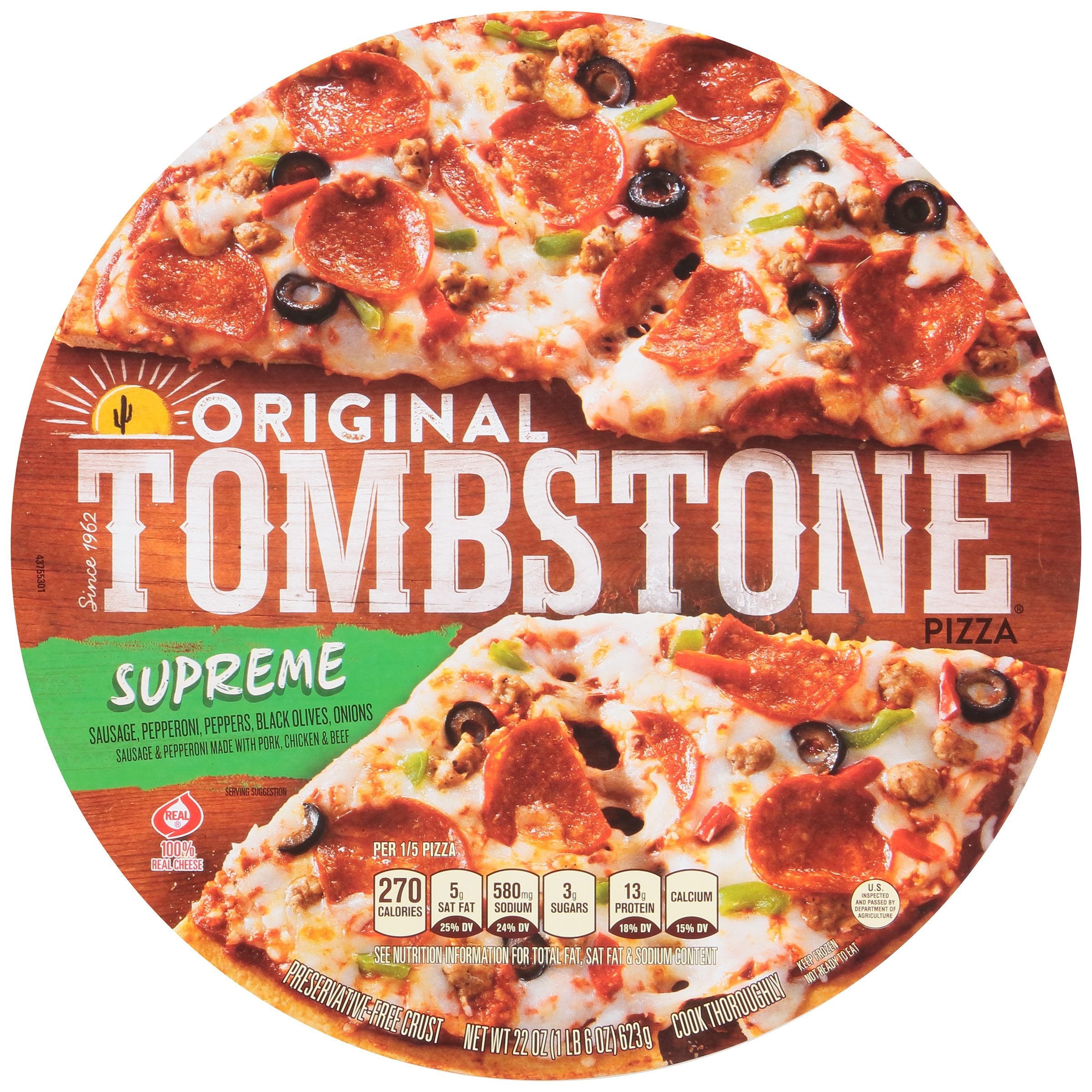 TOMBSTONE Original Supreme Pizza 22 oz. Package