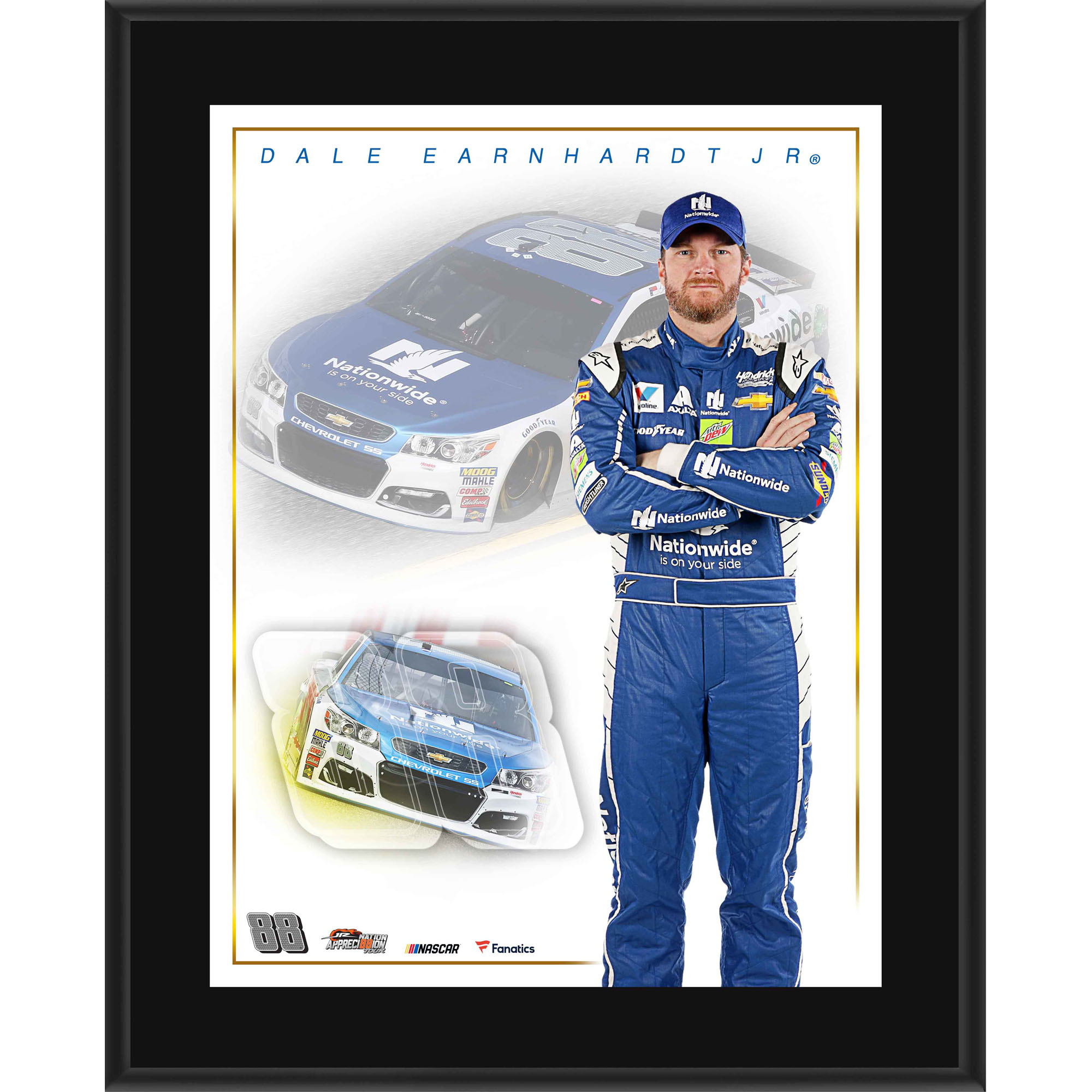 "Dale Earnhardt Jr. Fanatics Authentic 10.5"" x 13"" Nationwide Sublimated Plaque - No Size"
