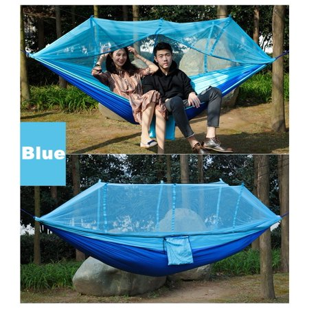 portable Tarnung double person travel camping hammock swing hanging bed w/ mosquito net