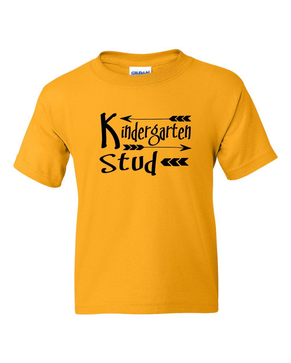 Kindergarten Stud Back to School Toddler Boys Short Sleeve T-Shirt