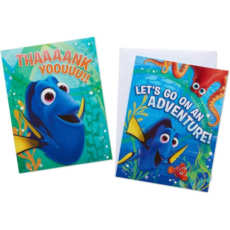 Finding Dory Party Invite and Thank You Combo Pack, 8ct - Tea Party Invites
