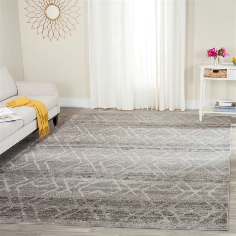 "Safavieh Adirondack 5'1"" X 7'6"" Power Loomed Rug in Silver and Ivory - image 2 de 3"