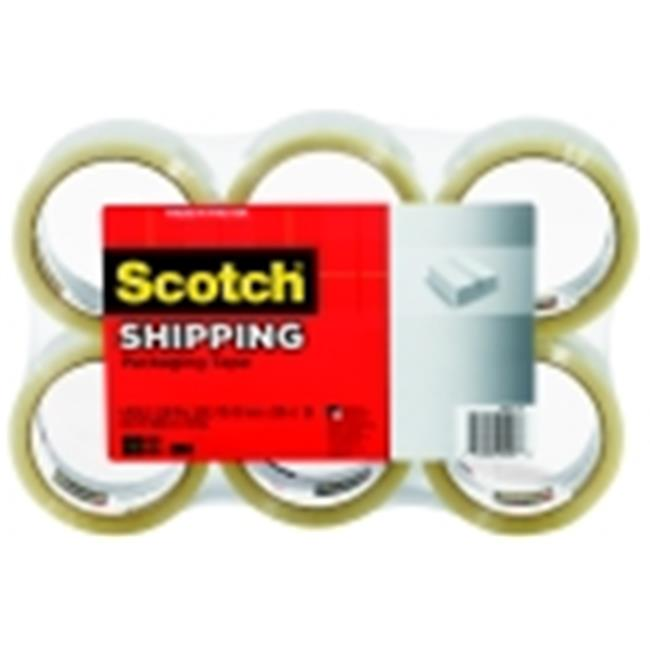 Scotch 1. 88 inch x 109 Yd.  3350 Lightweight Shipping Tape - Clear, Pack 6
