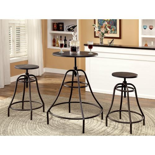Hokku Designs Marlett 3 Piece Adjustable Height Pub Table Set by Hokku Designs