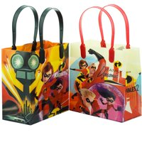 """12PCS- 6"""" Disney Incredibles Party Favor Goodie Gift Birthday Loot Bags Small"""