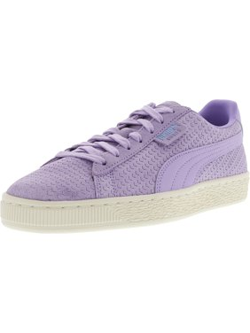 6f29754bb659 Product Image Puma Women s Suede Classic Perforati Purple Rose   Whisper  White Ankle-High Fashion Sneaker -