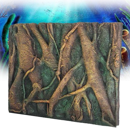 3D PU Tree Root Reptile Aquarium Fish Tank Background Board Plate Decor