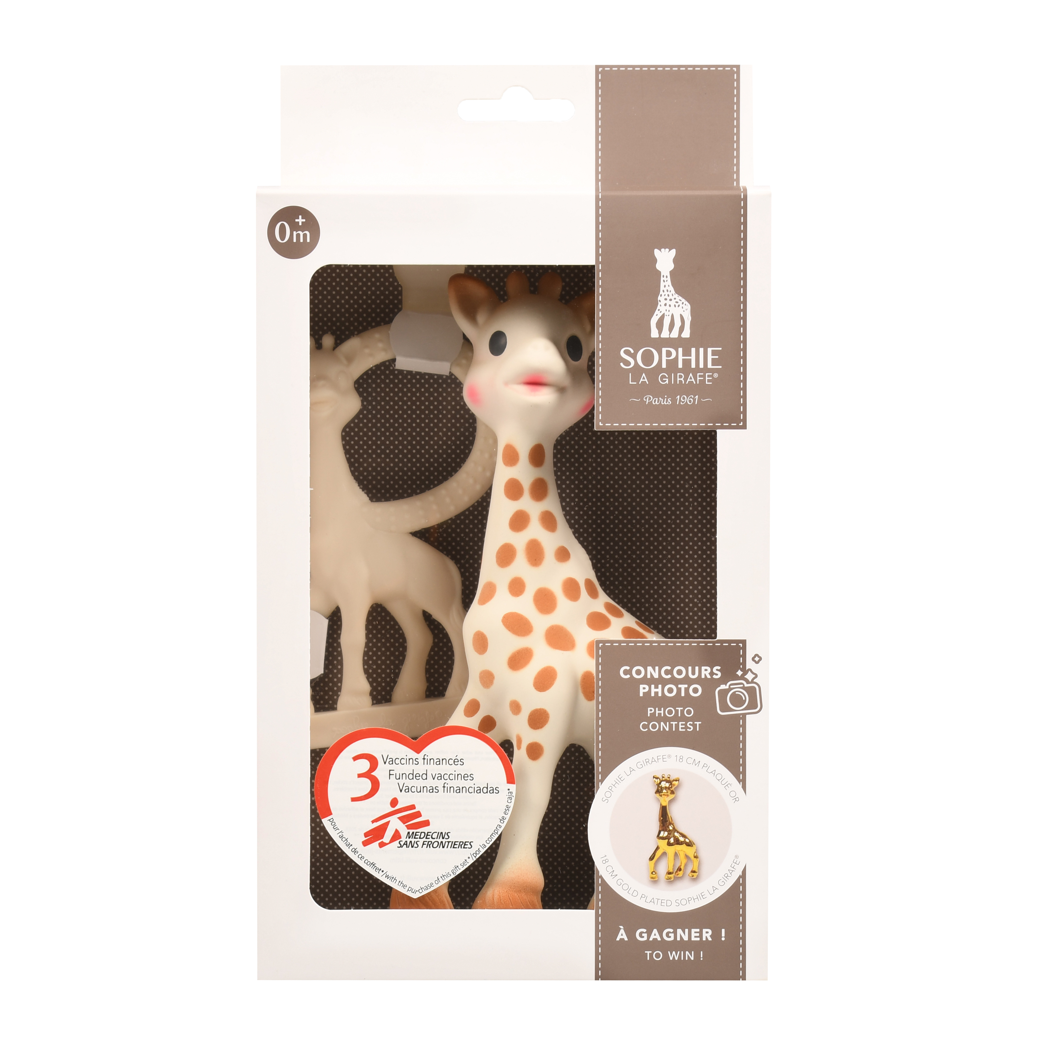 Vulli 516510 - Sophie La Giraffe Vanilla Teether Gift Set