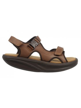 MBT Shoes  Men's Kisumu 3S Leather Sandal: 9 Medium (D) Sandal/Brown Velcro