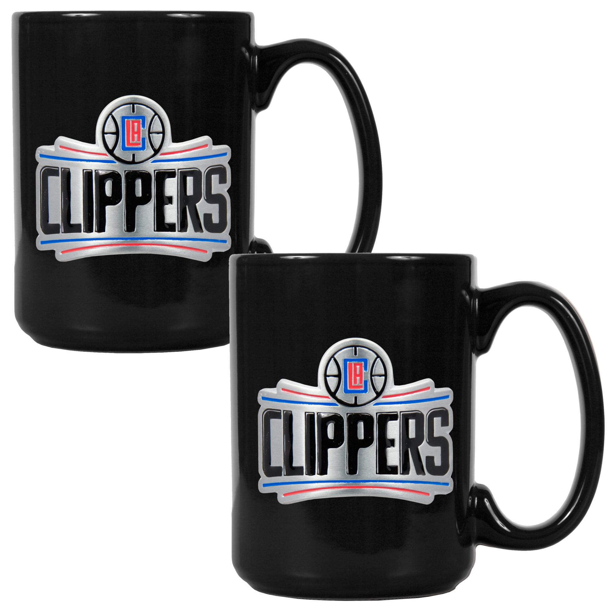 LA Clippers 15oz. Coffee Mug Set - Black - No Size